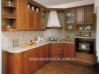 Кухня Арена з масиву дуба