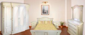 Спальня Маестро біла з масиву дуба Івано-Франківськ