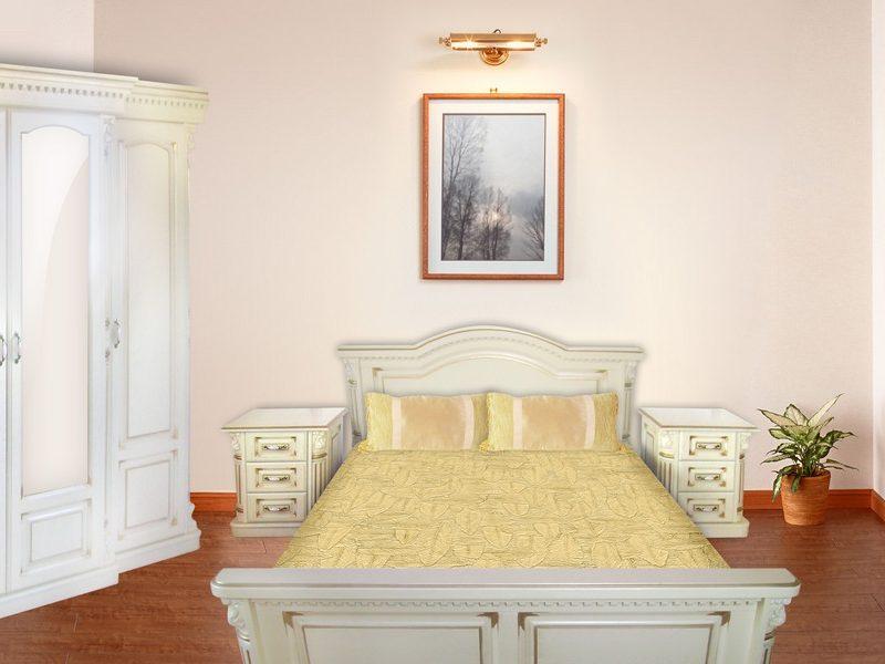 Спальня Маестро біла з масиву дуба