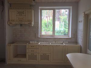 Кухня з масиву дуба біла Івано-Франківськ