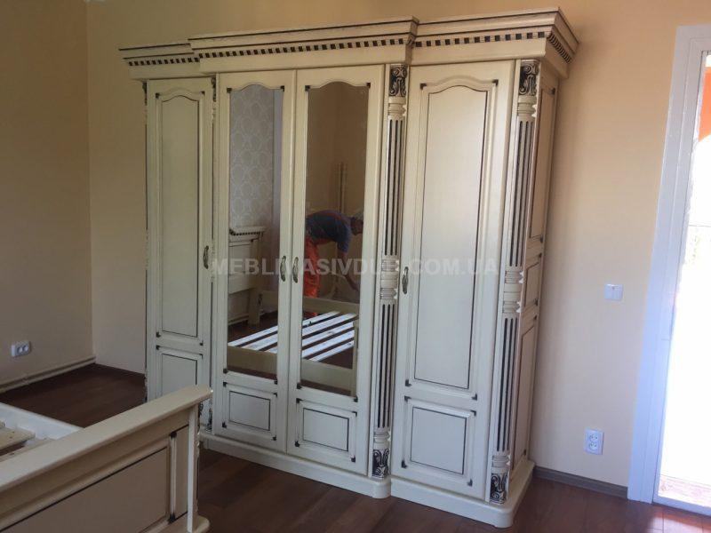 Спальня з масиву дуба біла