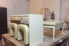 Стіл та стілець з дерева (art.1)